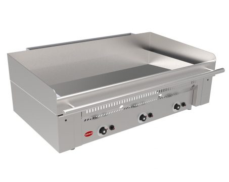 Massey Catering - Mirror Zone 3 Gas Chrome griddle – Smooth plate